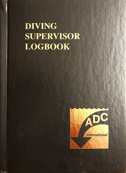 Diving Supervisor Log Book